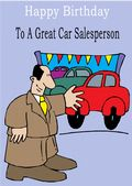Car Salesperson - Greeting Card